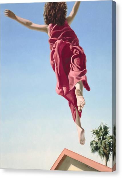 Flying Canvas Print - Attempts At Flight #8 by David Palmer