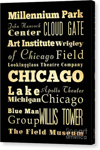 Apollo Theater Canvas Print - Attractions And Famous Places Of Chicago Illinois by Joy House Studio