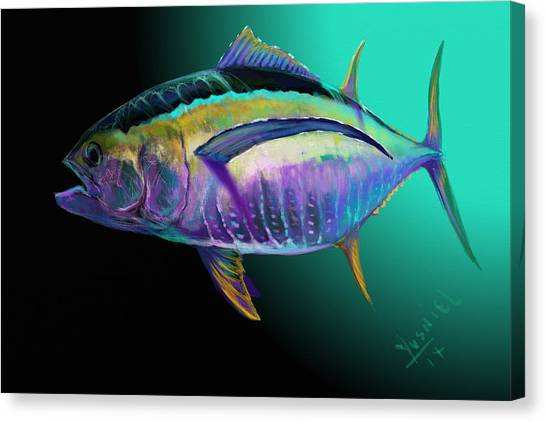Fish Tanks Canvas Print - Atun by Yusniel Santos