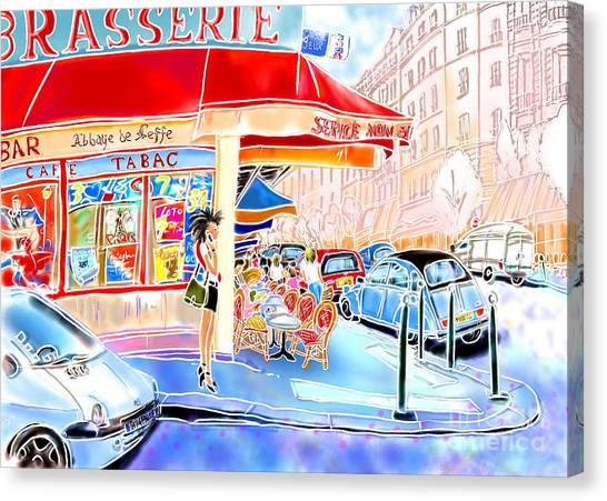 Au Coin De La Rue  Canvas Print