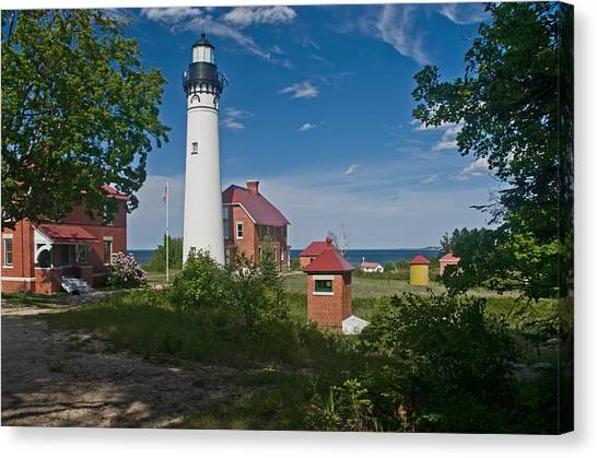 Au Sable Point Lighthouse  Canvas Print