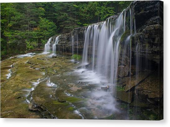 Au Train Falls Canvas Print