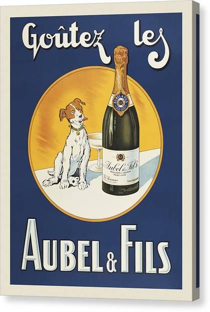 Aubel And Fils Canvas Print by Vintage Images