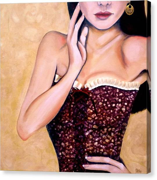 Aubergine Lace Canvas Print