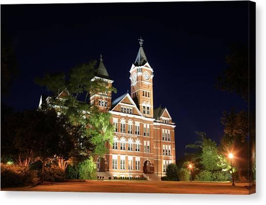 Auburn University Canvas Print - Auburn Nights by JC Findley