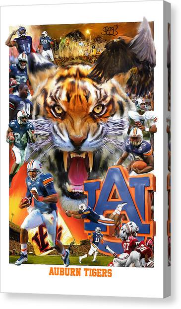 Sec Canvas Print - Auburn Tigers by Mark Spears