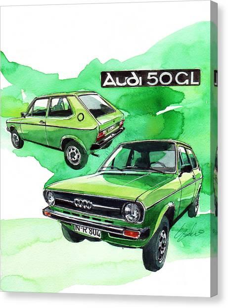 Audi Canvas Print - Audi 50 by Yoshiharu Miyakawa