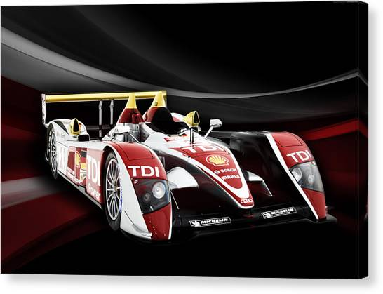 Audi Canvas Print - Audi R10 by Peter Chilelli