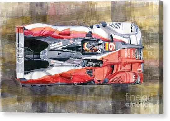 Audi Canvas Print - Audi R15 Tdi Le Mans 24 Hours 2010 Winner  by Yuriy Shevchuk