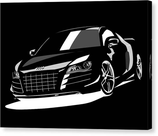 Sports Cars Canvas Print - Audi R8 by Michael Tompsett