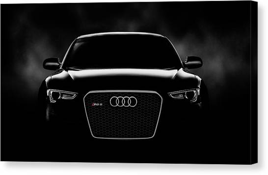 Black And White Canvas Print - Audi Rs5 by Douglas Pittman