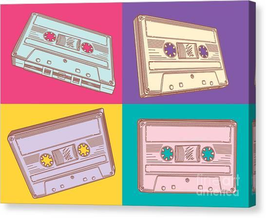 Culture Canvas Print - Audio Cassettes by Alex bond