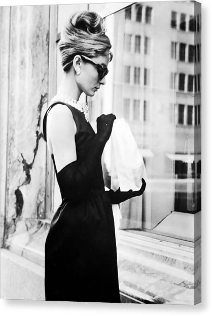 Audrey Hepburn Canvas Print - Audrey At Tiffanys by Georgia Fowler