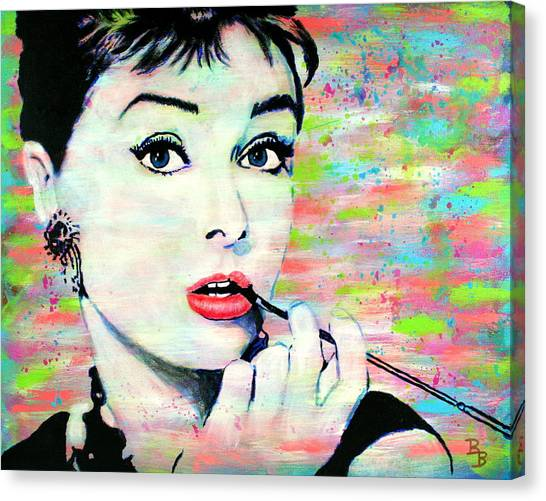 Audrey Hepburn Art Breakfast At Tiffany's Canvas Print