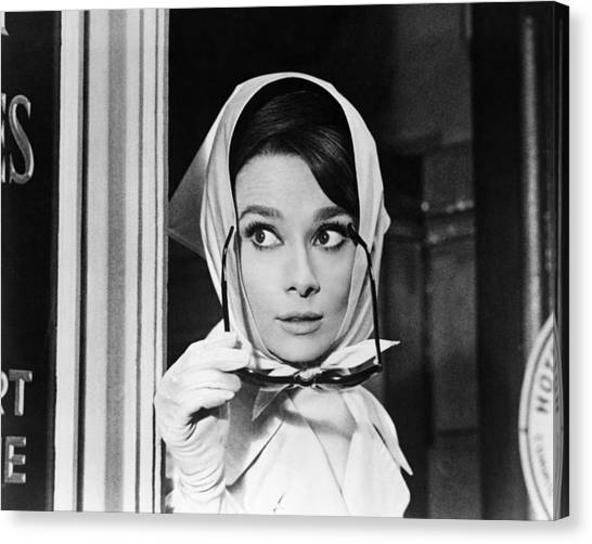 Audrey Hepburn Canvas Print - Audrey Hepburn In Charade  by Silver Screen