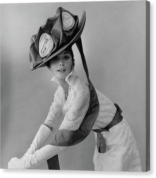 Fashion Canvas Print - Audrey Hepburn In Costume For My Fair Lady by Cecil Beaton