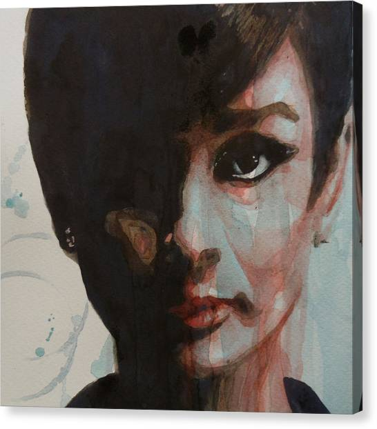 Actors Canvas Print - Audrey Hepburn  by Paul Lovering