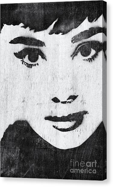 Audrey Hepburn Canvas Print - Audrey Hepburn by Tim Gainey