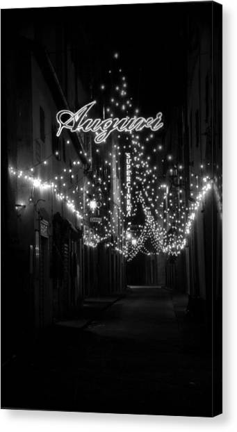 Auguri To Florence Canvas Print by Visual Stenographer