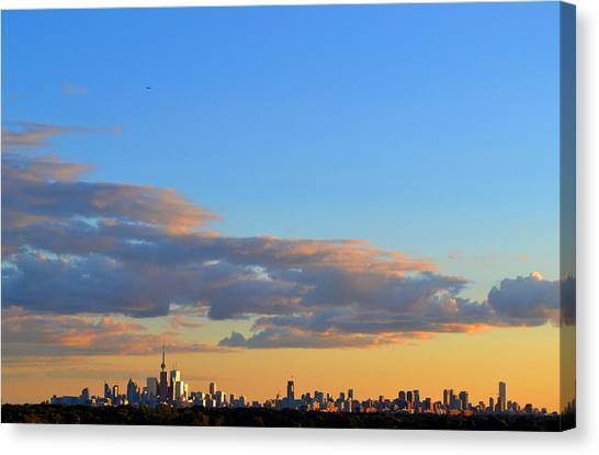 August Early Evening Toronto 4  Canvas Print by Lyle Crump