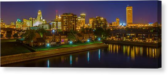 August Night In Buffalo Canvas Print