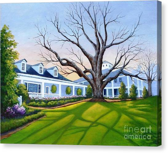 Augusta National Clubhouse Canvas Print
