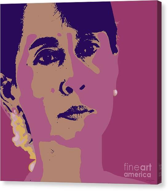 Aung San Suu Kyi Canvas Print