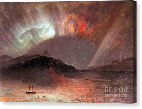 Aurora Borealis By Frederick Edwin Church Canvas Print
