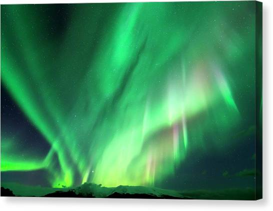 Vatnajokull Glacier Canvas Print - Aurora Borealis by Jeremy Walker