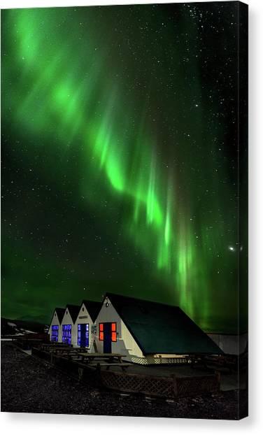 Aurora Borealis Canvas Print - Aurora Borealis by Jes?s M. Garc?a