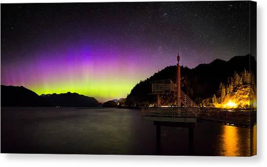 Aurora Borealis Near Vancouver Canvas Print