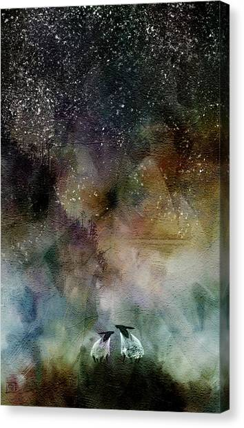 Aurora Borealis Sheep Canvas Print