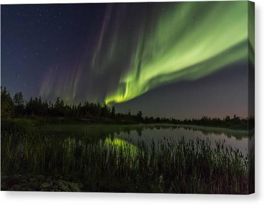 Aurora Waves Canvas Print