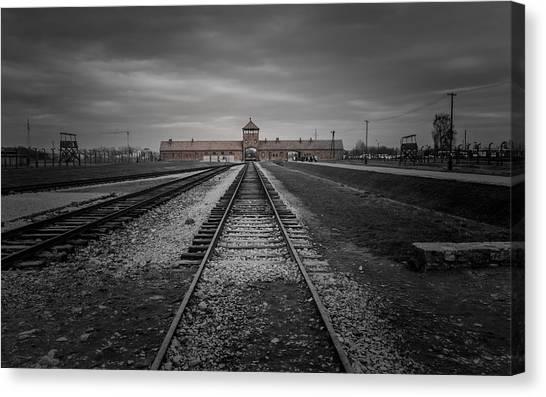 Holocaust Museum Canvas Print - Auschwitz-birkenau by Chris Fletcher
