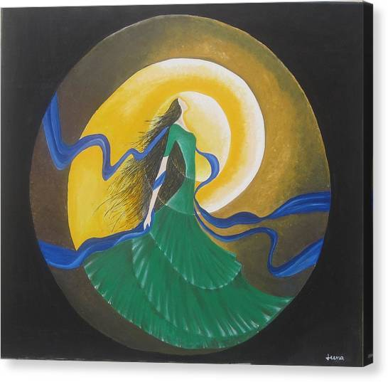 Auspicious Moment-oil Painting Canvas Print by Rejeena Niaz