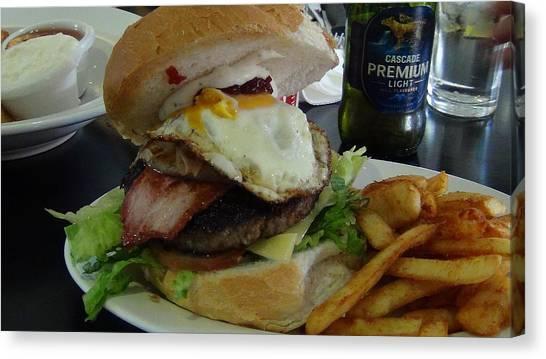 Aussi Burger Canvas Print
