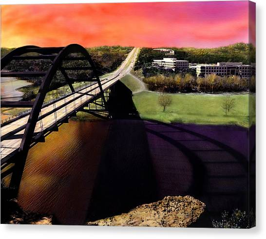 Austin Texas Canvas Print - Austin 360 Bridge by Marilyn Hunt