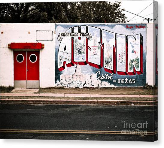 Austin Texas Canvas Print - Austin Capital by Sonja Quintero