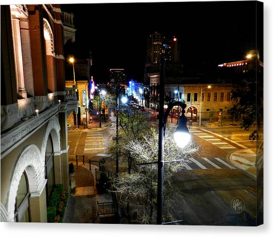 Canvas Print featuring the photograph Austin Hdr 002 by Lance Vaughn