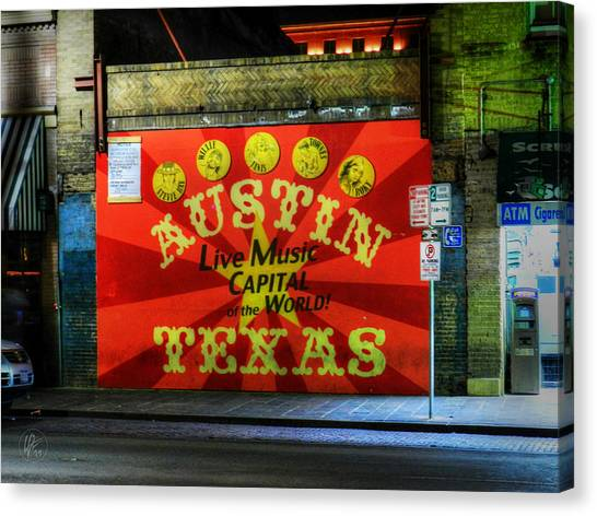 Austin Texas Canvas Print - Austin Hdr 006 by Lance Vaughn
