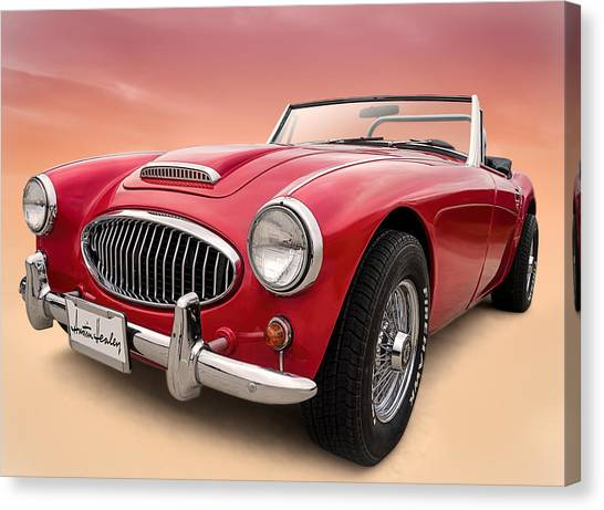 Austin Canvas Print - Austin Healey by Douglas Pittman