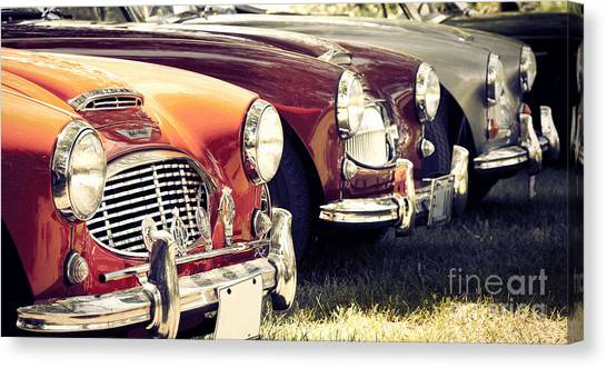Austin-healey Times Three Canvas Print