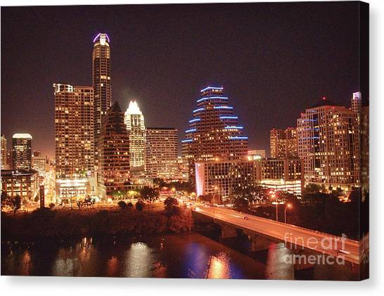 Austin Lights The Night Canvas Print