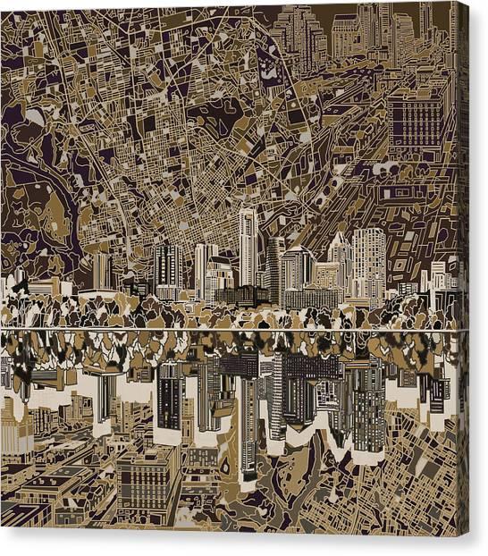 Austin Skyline Canvas Print - Austin Texas Skyline 5 by Bekim Art