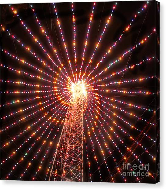 Austin Texas Canvas Print - Austin Texas Trail Of Lights  by Svetlana Novikova