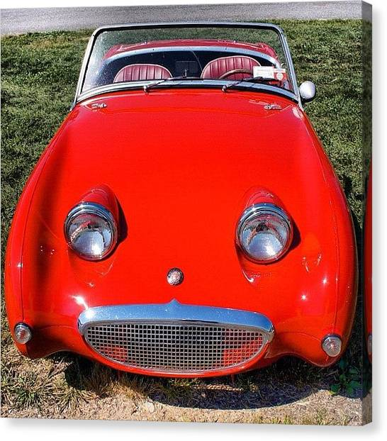 Sprite Canvas Print - #austinhealey #sprite by Motorsports The Real
