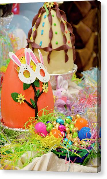 Easter Baskets Canvas Print - Australia Easter Display Of Large by Cindy Miller Hopkins