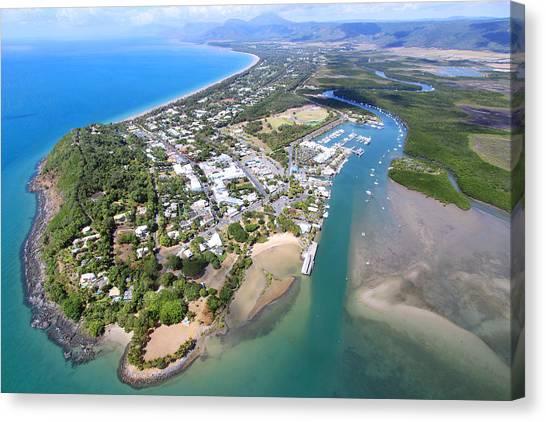 Daintree Rainforest Canvas Print - Australia Landscapes Aerial C by Christie Bouwkamp