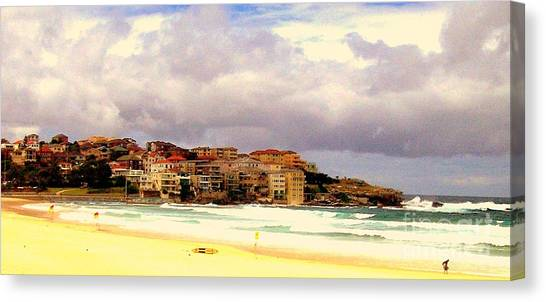 Australian Beach Scene Canvas Print by John Potts