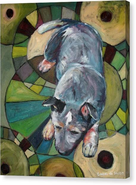 Australian Cattle Dog Nap Time Canvas Print